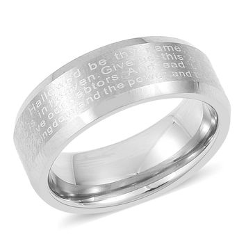 Lord's Prayer Tungsten Band Ring