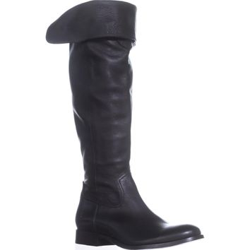 FRYE Melissa Western Over The Knee Boots, Black, 7 US
