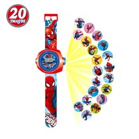 2016 Children Cartoon Projection Watch Boy Girl Christmas Gift Puzzle Toys 20 Projections LED Digital Watches Kids WS134