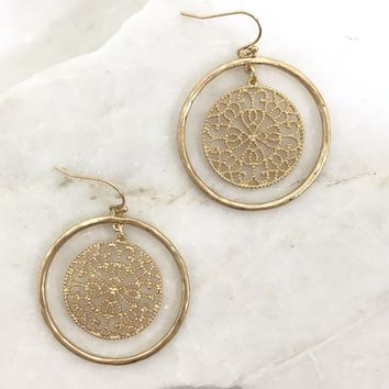 Woven In Gold Earrings