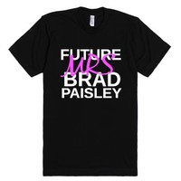 Future Mrs Brad Paisley-Unisex Black T-Shirt