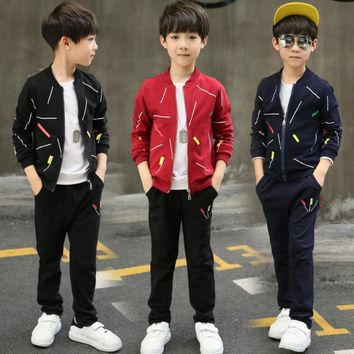 Autumn Boy Set Clothes Boys 2 Pieces Suit With Pants