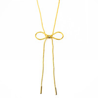 Long Bow Necklace