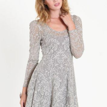 Floral Lace Fit and Flare Dress by Free People - $128.00 : ThreadSence.com, Your Spot For Indie Clothing  Indie Urban Culture
