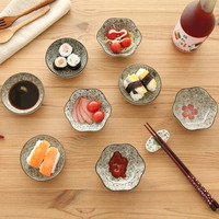 6 Styles Colored Ceramic Dish Flavored Dish Dessert Sauces Tapas Dish Saucer Snack Tray Fruit Tray