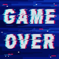 Game Over Glitch Text Distorted Stock Illustration - Illustration of graphic, modernstyle: 111825470