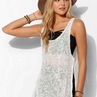 Ecote Raw-Edge Slit Tank Top