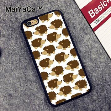 MaiYaCa Animal Hedgehog Printed Phone Case for iPhone 6 6s Capa Fundas Case For iphone 6s Back Shell Cover