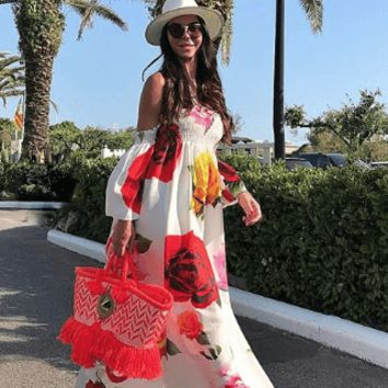 Greece Maxi Dress - White
