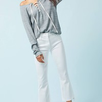 Mother The Insider Crop Step Fray High-Rise Jeans