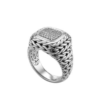 Pave Diamond Square Ring - John Hardy
