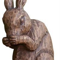 2 Rabbit Statues - Made Of Resin