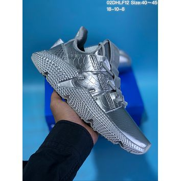 HCXX A431 Adidas Originals Prophere mirror squama grain fear sharks hedgehog running shoes Sliver