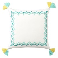 Embroidered Border Monogram Pillow Covers