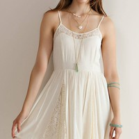 Crochet Lace Slip Dress - Natural
