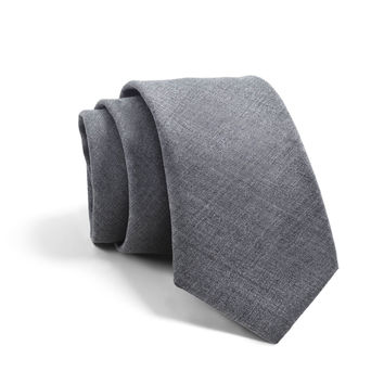 Fulton Chambray Tie In Dark Grey