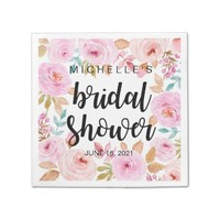 Chic Floral Bridal Shower Disposable Napkin