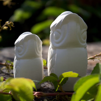 "Cute Owl Set 3"" Ready to Paint Ceramic Bisque"