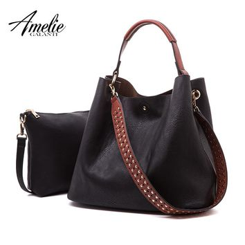 AMELIE GALANTI Satchel Purses and Handbags for Women Shoulder Tote Bags Wallets  large capacity 2 bags in 1 women hobo purses