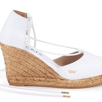 Aro Canvas Wedges - White