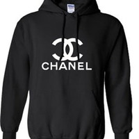 Chanel Sweatshirt Hoodie in Black or White for Adults