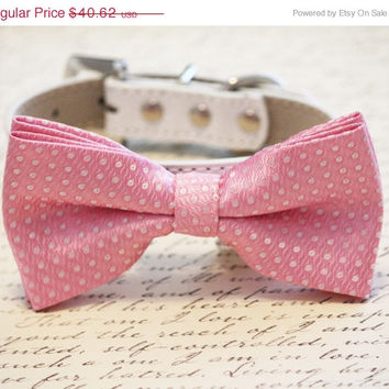 Pink Dog Bow Tie - Pink Bow, Pink wedding accessory, Dog Birthday Accessory, Pink Lovers, Chic