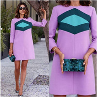 New Casual Dresses Spring Summer Dress Clothes for women Straight  Dress Vestidos Women Vintage A-Line Dress ZX055B