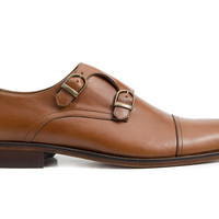 Hoyt Double Monkstraps - Tan leather