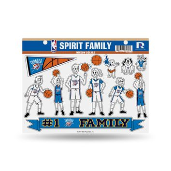 """Licensed NBA 11"""" x 11"""" Large Family Car Decal Sheet Celtics by Rico KO_19_1"""