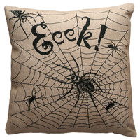 Eeek Spiders Throw Pillow