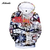 Aikooki New Fairy Tail Anime Hoodies 3D Hot Sale Men Casual Print Fairy Tail Character 3d Sweatshirt Hoodie Long Sleeve Clothes