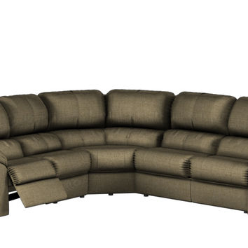 Large Reclining True Sectional Fabric Sleeper Sofa- Melrose by Palliser