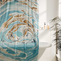 Agate Stone Marble Shower Curtain - Urban Outfitters