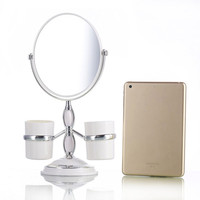 1Pcs Women Professional Makeup Mirror Korean Style 6 Inch Double Sided 3X Magnification Desktop Mirror With Storaging Box