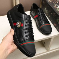 Gucci Man or Woman Fashion Edgy Strappy Sneakers Sport Shoes