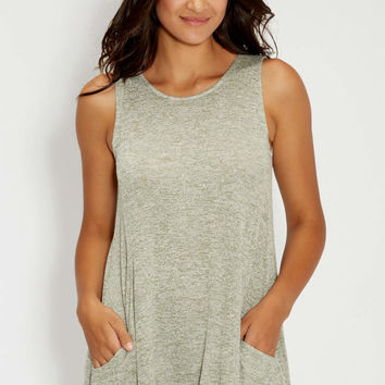 spacedye knit tank with pockets | maurices