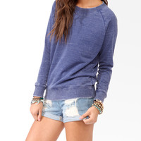 French Terry Burnout Pullover