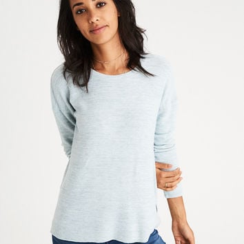 AE Soft & Sexy Plush Drop-Shoulder Sweatshirt, Blue