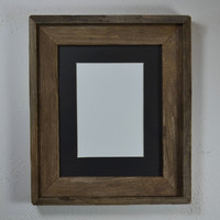 8x10 reclaimed wood picture frame with your choice of 5x7 mat