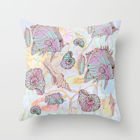 my auquarium Throw Pillow by Marianna Tankelevich | Society6