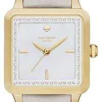 kate spade new york 'washington' square leather strap watch, 25mm | Nordstrom