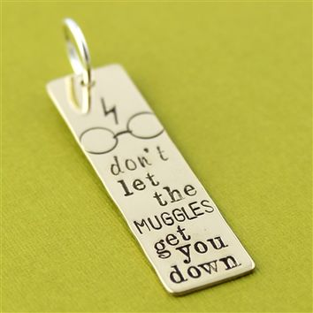 Don't Let the Muggles Get You Down Pendant - Spiffing Jewelry