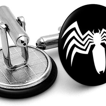 Venom Spiderman Logo Cufflinks