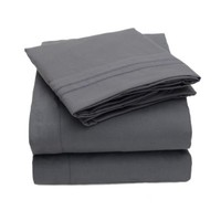 1500 Supreme Collection Bed Sheets - 4 Piece Bed Sheet Set Deep Pocket HIGHEST QUALITY & LOWEST PRICE, SINCE 2012 - Wrinkle Free Hypoallergenic Bedding - All Sizes, 23 Colors - Queen, Black