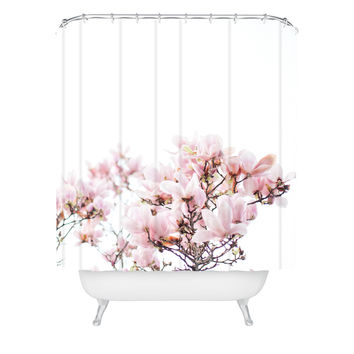 Hello Twiggs Pink Magnolias Shower Curtain