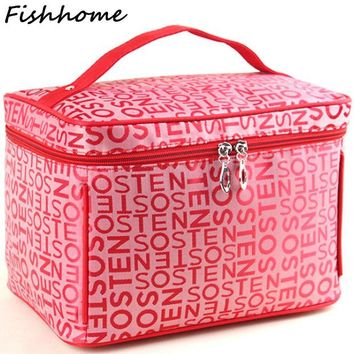 VONESC6 2017 Extra Large Capacity Cosmetic Bag High Quality Women Waterproof Travel Toiletry Bag Necessaire Organizer Make up Bags CQ101