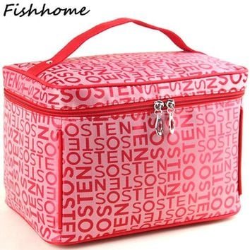 DCCKL3Z Professional Large Capacity Cosmetic Bag Extra Big High Quality Women Waterproof Travel Necessaire Toiletry Make up Bag SZL53