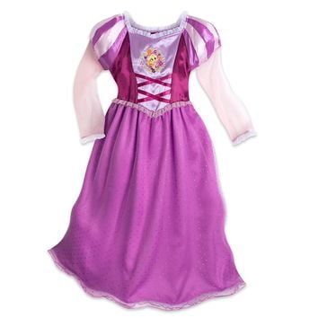 Authentic Disney Store Tangled Rapunzel Deluxe Nightgown Costume Dress Girl 9/10