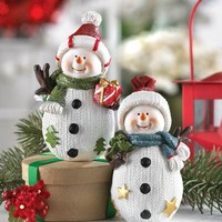 Holiday Fun Snowman Buddies Decorations
