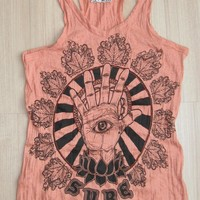 Women's T Shirt Hamsa Hand Yoga Clo.. on Luulla